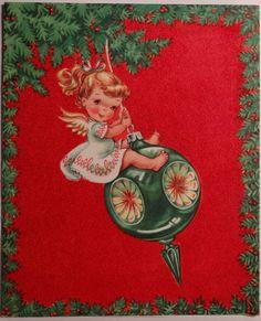 1950s Angel Card