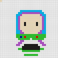 Buzz - Toy Story Perler Bead Pattern