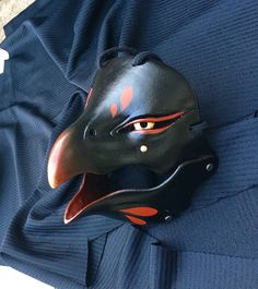 Oni Mask, Japanese Mask, Armor Clothing, Bird Masks, Cool Masks, Carnival Masks, Masks Art, Doll Repaint, Mask Design