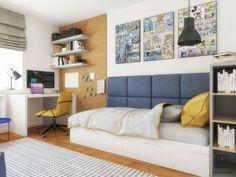 Aranżacja małego pokoju dla chłopca - Architektura, wnętrza, technologia, design - HomeSquare Home Room Design, Teenage Room, Kids Party Games, Inspiration For Kids, House Rooms, Kids Room, Couch, Interior Design, Bedroom
