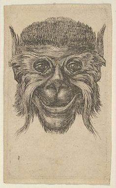 François Chauveau (French, 1613–1676). Monkey Mask, from Divers Masques, ca. 1635–45. The Metropolitan Museum of Art, New York. Harris Brisbane Dick Fund, 1945 (45.101.43)