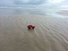 #toytrips with my red jeep at The Spit, Australia,  @yooamigo.