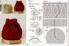 Handmade Kids Bags Knitting - Knittting Crochet Ananas Deckchen Kordelzugbeutel This image has get 0 Crochet Shell Stitch, Crochet Motif, Free Crochet, Baby Knitting Patterns, Crochet Patterns, Kids Knitting, Handmade Kids Bags, Crochet Drawstring Bag, Crochet Market Bag
