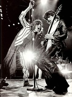 "soundsof71: ""Glimmer Twins aglow! Mick Jagger and Keith Richards, 1975, by Michael Dobo """