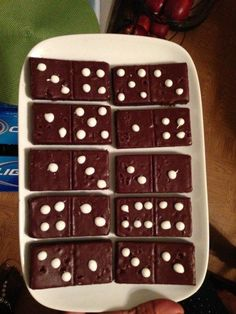 Game Night Party Idea Domino Brownies