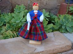 Items similar to Finland clothespin doll, red, blue, green dress - ready to ship on Etsy Blue Green Dress, Red Blue Green, Metal Spring, Clothespin Dolls, Clay Jewelry, Cloths Pins, Christmas Decorations, Ship, Popsicle Sticks