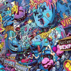 MR. MISANG Graffiti Doodles, Trippy Wallpaper, Doodle Cartoon, Lowbrow Art, Dope Art, Psychedelic Art, Art For Art Sake, Surreal Art, Art Sketches