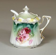 RS Prussia Mustard Pot with Spoon