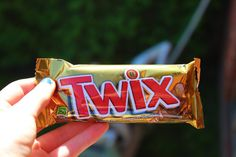 me and him both love Twix. <3 it was meant to be. ha.