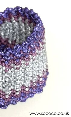 I love Glitter Purple/Lavender/Silver SoCoco bracelet  www.sococo.co.uk Macrame Bracelets, Lavender, Glitter, Purple, My Love, Unique, Silver, Viola, Sequins