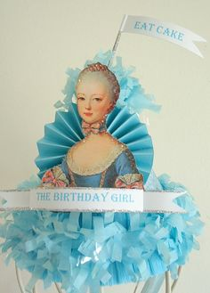marie antoinette party hat! let them eat cake