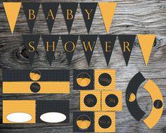 Chevron and Polkadot Pumpkin Baby Shower Party Printable by xxLVE, $20.00