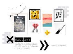 Wall art - Nube de cuadros para decorar de ioshop. Encuentra estas y otras láminas en www.ioshop.es  #wallart #art #decoration #prints #homedecor