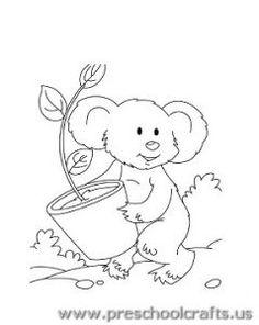 Koala Coloring Pages for Preschool - Preschool and Kindergarten ...