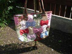 romantik2+Letní+taška,ručně+šitá+a+prošitá,zapínaní+na+zip+a+knoflík,rozměry+45x36cm