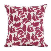 50x50cm Flores sangria linen cushion