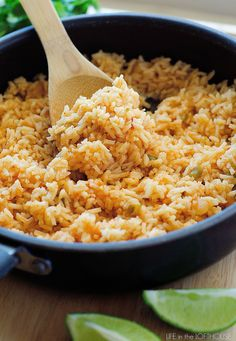 This Mexican Rice isso delicious! It's a perfect side tocomplement any Mexican inspired dish! (I usually like toserve it with myHoney Lime Chicken Enchiladas) Yum!   My little KallenLOVES this rice. He can neverget enough! It's always a big hit with the rest of us as well. From start to finish it's...Read More »