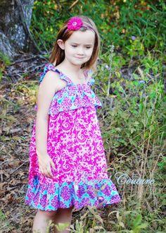 Toddler girl maxi dress pattern