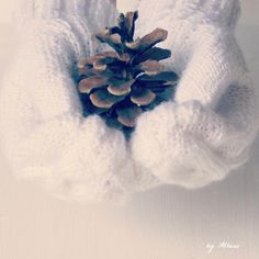 pine cones and mittens Crochet Mittens, Knitted Gloves, Knit Crochet, Scarf Hat, Pine Cones, Arm Warmers, Knitting, Stylish, Winter