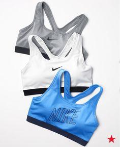 29f07830ff604 Nike Pro Classic Padded Mid-Impact Dri-FIT Sports Bra Women - Tops - Macy s