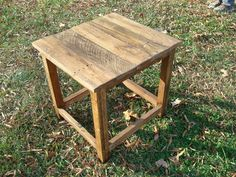 Reclaimed Wood Side Table-Stained. $100.00, via Etsy.