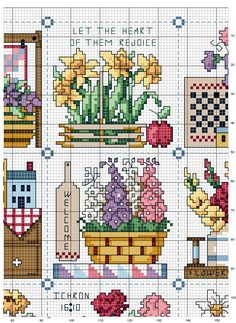 Let the heart of them rejoice 2 of 123 Cross Stitch, Cross Stitch Kitchen, Cross Stitch Needles, Cross Stitch Cards, Cross Stitch Flowers, Cross Stitch Designs, Cross Stitching, Cross Stitch Embroidery, Cross Stitch Patterns