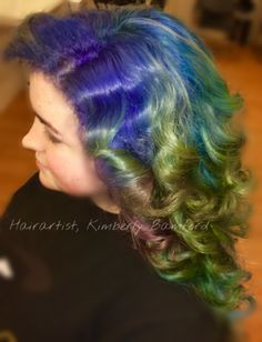 Mermaid blues! mermaidhair unicornhair vivids haircolor bluehair greenhair newburyport newburyportsalon newburyporthair salisbury amesbury