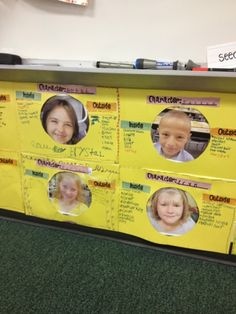 Character study- first wrote about themselves with describing words before studying characters in books!