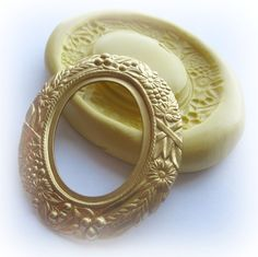 Cameo Frame Mold Victorian Fancy Setting Mold Resin Clay Mould via Etsy