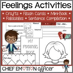 The Chief Emotion Officer's Feelings Activities are for students in grades 1-4 that would benefit from practice identifying emotions in themselves and others, recognize how certain situations make them feel, understand how emotions change, and the way their