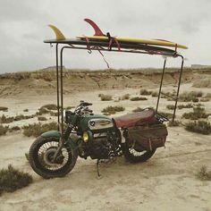 Surf 'n ride :-) Bmw Motorcycles, Vintage Motorcycles, Custom Motorcycles, Honda Cb, K100 Scrambler, Motos Harley Davidson, Ducati Monster, Vintage Bikes, Surfs Up