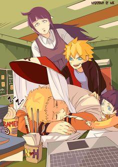 HInata, Boruto, HImawari e Naruto Hinata Hyuga, Naruhina, Sasuke, Uzumaki Boruto, Naruto And Hinata, Anime Naruto, Akatsuki, Boruto Family, Yamanaka Inojin