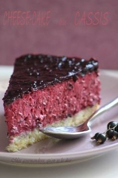 Cheesecake cassis