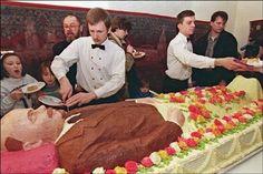 Creepy funeral cake