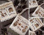 Tea Time - PDF Digital Cross Stitch Pattern...goes with other tea design....cute