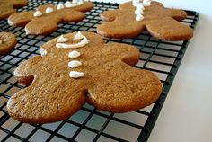 Thick and Chewy Gingerbread Cookies by Mel.