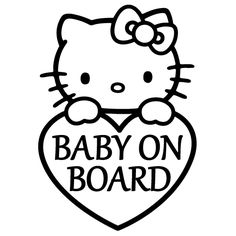 Baby On Board / Hello Kitty Vinyl Decal Sticker. Starting at: $2.50