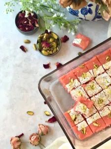 Rose Kalakand in 4 minutes in Microwave – Food, Fitness, Beauty and More
