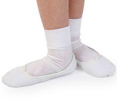 39f9b7dbfd8 Boys White CANVAS Ballet Shoes - Pre-sewn Elastics