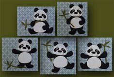 Marjolein Zweed laat zien dat je met de nieuwe stans van de panda van Eline Pellinkhof (COL1409) verschillende houdingen aan de panda kunt geven.