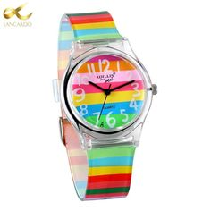 6b2708a5caa5 Lancardo Rainbow Women Quartz Watch Silicone Watch. Relojes ...