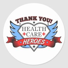 Thank You Health Care Heroes Classic Round Sticker  nurse fundamentals, inspirational nurse quotes, registered nurse quotes #nurselife #funnynurse #funny, back to school, aesthetic wallpaper, y2k fashion Labor Nurse, Heath Care, Nurse Quotes, Nursing Memes, Nurse Life, Nurse Humor, Round Stickers, Custom Stickers, Activities For Kids