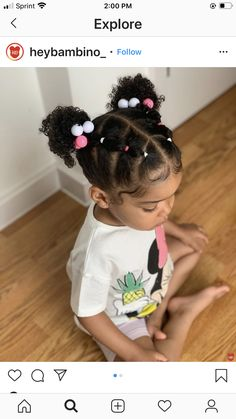 Little Mixed Girl Hairstyles, Black Toddler Hairstyles, Natural Hairstyles For Kids, Baby Girl Hairstyles, Kids Braided Hairstyles, Girl Hair Dos, Hair Ideas, Future, Princess
