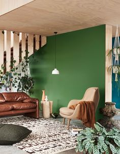 This Feature wall is Dulux Plasticine and background wall in Dulux Sea Creature. Source: The Design Files Home Decor Trends, Home Decor Styles, Diy Home Decor, Dark Interiors, Colorful Interiors, Industrial Interiors, Dulux Australia, Home Interior, Interior Design