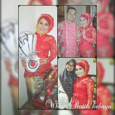 Red kebaya .. for engagement day...