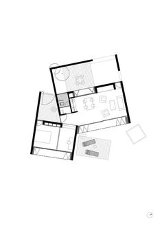 Médanos Patagonia / Mario Corea Arquitectura + Eugenio Tioni + Diego Nakamatsu + Paula Campra + Marcelo Ranzini Tiny House Cabin, Modern House Plans, Small House Plans, House Floor Plans, Cabin Design, Tiny House Design, Architecture Plan, Residential Architecture, Arch House
