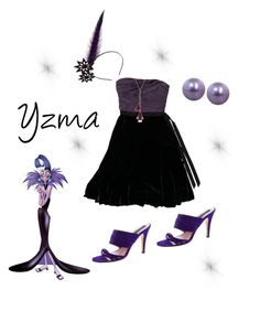 """Yzma - The Emperors New Groove"" by ruffledew ❤ liked on Polyvore featuring Vera Wang, Derek Lam, Honora, Maggie Mowbray Millinery and Kate Spade"
