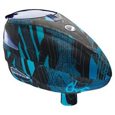 DYE Rotor Paintball Loader Cyan Cubix | Badlands Paintball Gear Canada