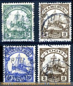 Postage stamps from German colonies