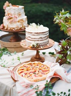 dessert table with small dark naked cake. Graham, Wedding Desserts, Wedding Cakes, Naked Cakes, Southern Desserts, Cake Table, Dessert Tables, Dallas Wedding, Southern Weddings